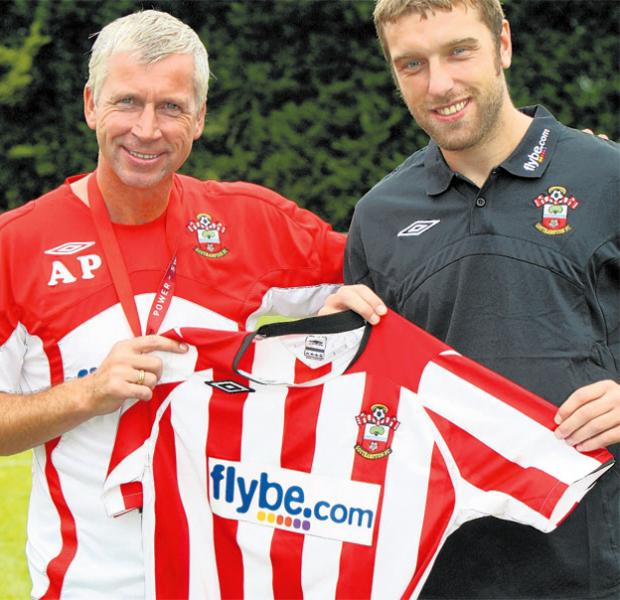 Rickie Lambert's first day as a Saints player with then boss Alan Pardew