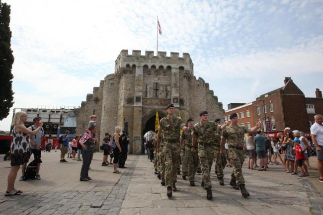 Last year's Armed Forces Day event in Southampton