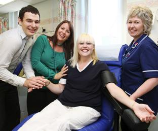 TEAM EFFORT: Paul Anscombe, Kerry Swain and Sally Hillyear of Hampshire Autistic Society and nurse Kym Stiles.