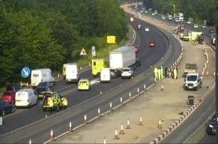M27 incident. Image taken by Highways England.