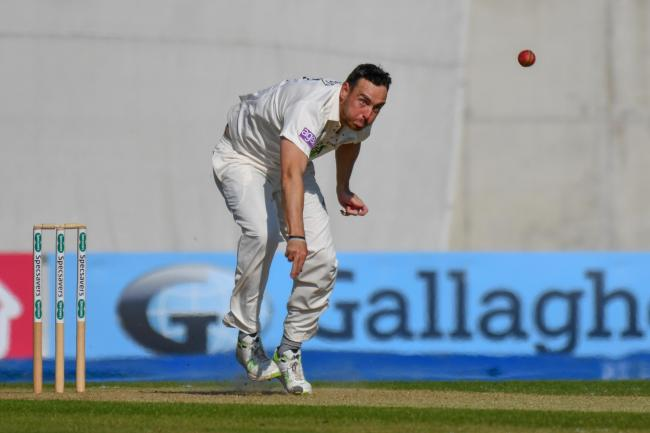 Kyle Abbott's 5-78 was in vain as Hampshire failed to beat Warwickshire today (Photo by Michael Berkeley)