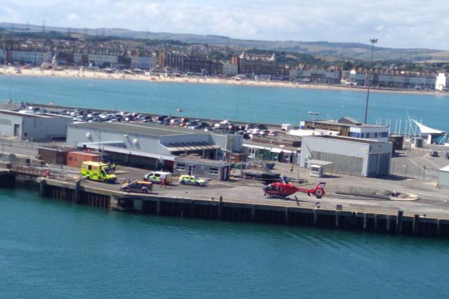 A diver from Eastleigh died after he was pulled from the sea off Portlad. Picture: Terry Wright