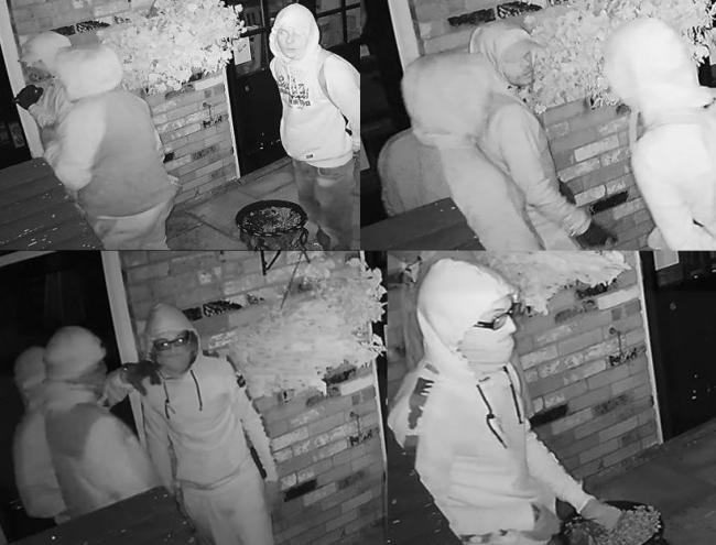 CCTV montage of the gang at the Farmers Home pub in Durley