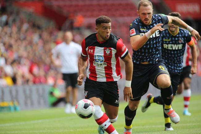Che Adams on his St Mary's debut (Photo: Richard Crease)
