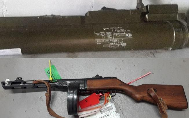 Rocket launcher and machine gun handed in to police | Daily Echo