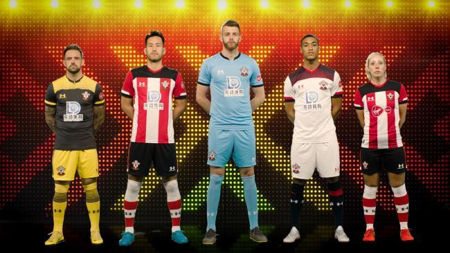 Southampton's new home and away shirts will not be avilable until