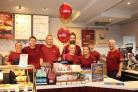 Costa Coffee staff at the opening