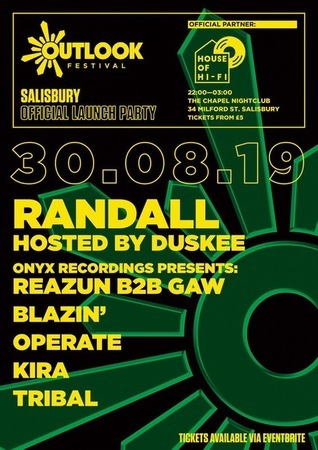 House of Hi-Fi: Outlook Festival Official Salisbury Launch Party