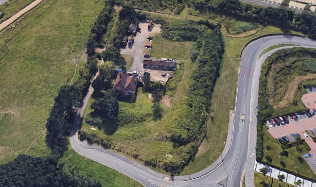 The area of land in Nursling. Photo: Google