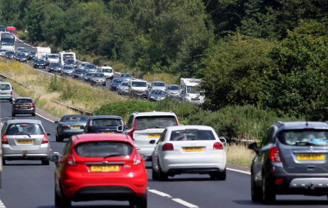 Delays on the A31 at Cadnam