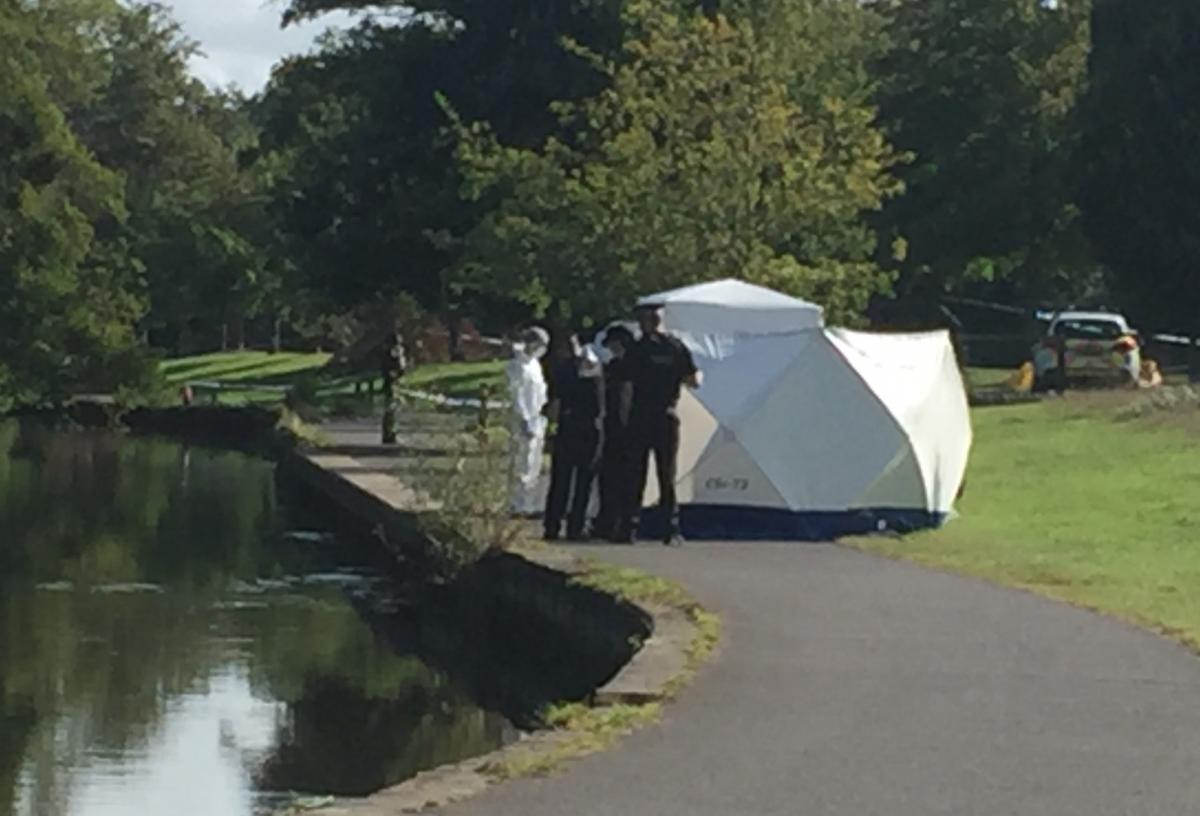 Police set up tent and cordon off area in Southampton park