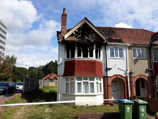 A house was damaged by fire in Ripstone Gardens, Southampton.