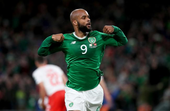 David McGoldrick scored his first goal for Ireland before being sent back to Sheffield United