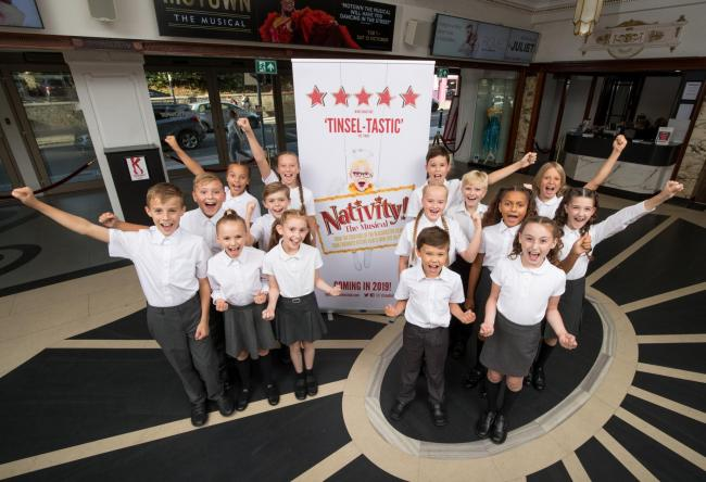 The local cast of Nativity the Musical at Mayflower Theatre