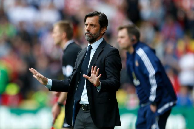 Watford manager Quique Sanchez Flores during the Barclays Premier League match at Vicarage Road, Watford..