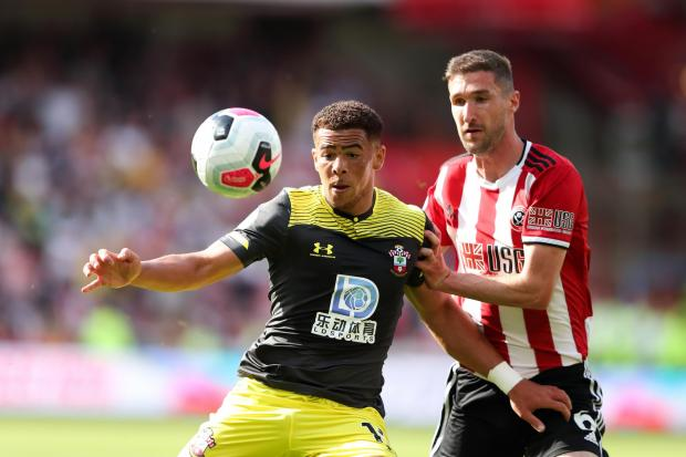 Daily Echo: Che Adams came close to scoring against Sheffield United