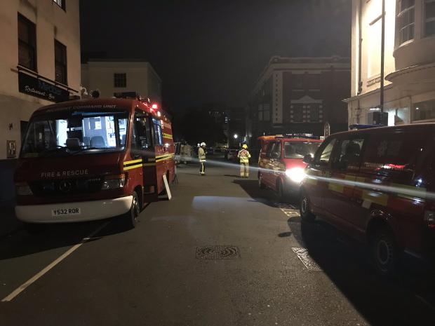 Firefighters Tackle Blaze Above Pizza Express In Oxford