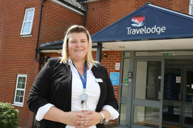 Kirsty Wilmore, manager of the Stoney Cross Lyndhurst Travelodge