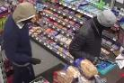 CCTV of the raid at the petrol station in Chickenhall Lane in Eastleigh.