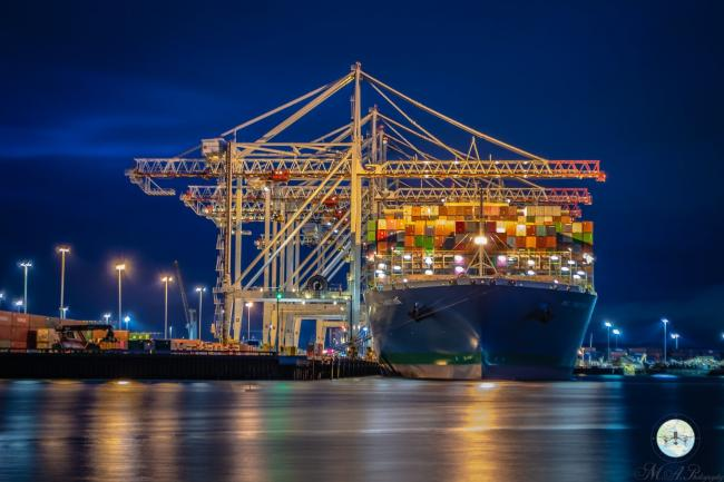 Southern Daily Echo Camera Club photo by Matt Adamiak? - Southampton Container Port at night