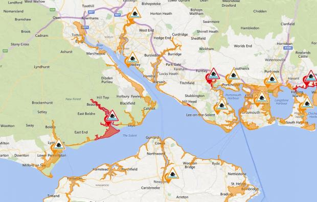Daily Echo: The flood map released on September 29. Credit: GOV.UK