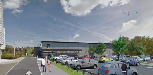 This is what the new Aldi in Bursledon Road would look like,