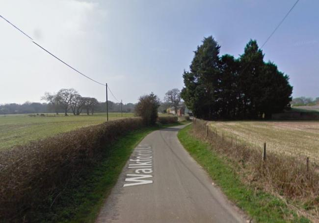 Walkford Lane, Walkford. Google Street View.