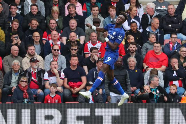 Tammy Abraham celebrates his goal for Chelsea