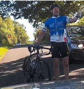 Motorist has bike thrown at his car before being attacked by cyclist