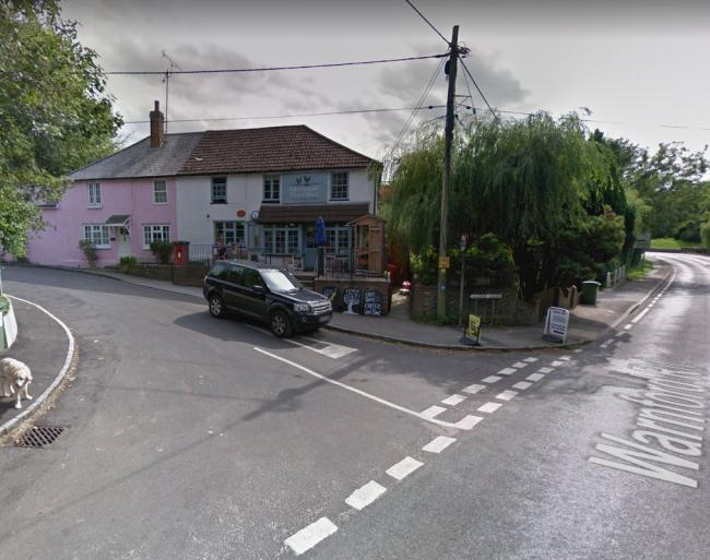 The accident occurred near a post office at Warnford Road, Corhampton. Picture: Google.