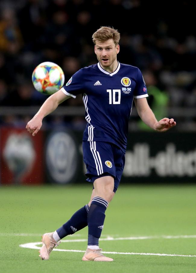 File photo dated 21-03-2019 of Scotland's Stuart Armstrong PA Photo. Issue date: Monday October 7, 2019. Stuart Armstrong has been called into the Scotland squad for the upcoming 2020 European Championship qualifiers against Russia and San Marino. See
