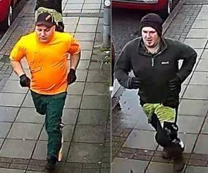 Police would like to speak to these men following a distraction burglary in Southsea.