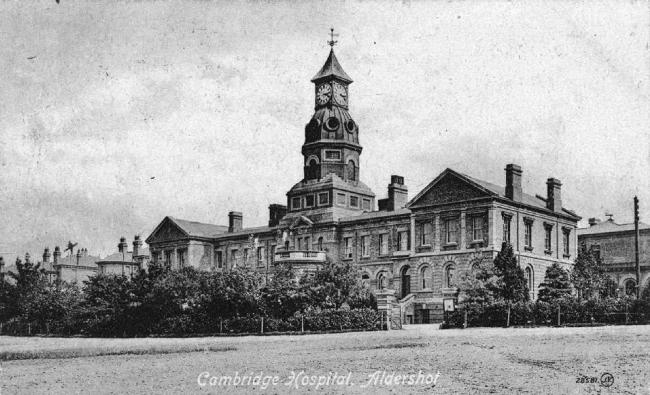 Cambridge Military Hospital, Aldershot. Picture from old postcard.