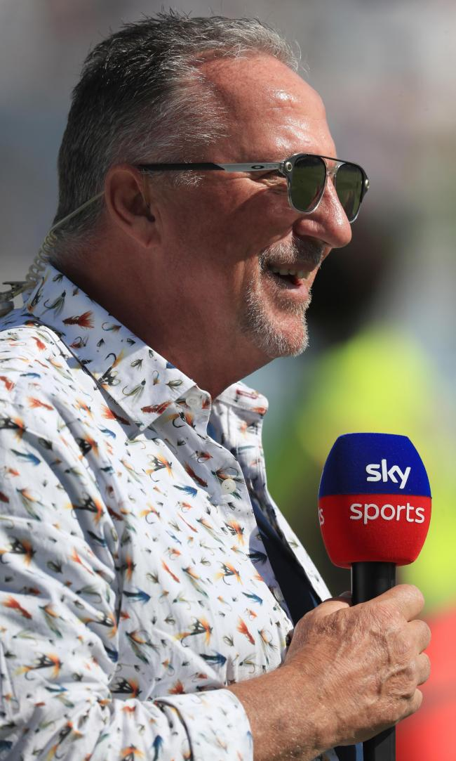 Sir Ian Botham during day four of the fifth test match at The Kia Oval, London.