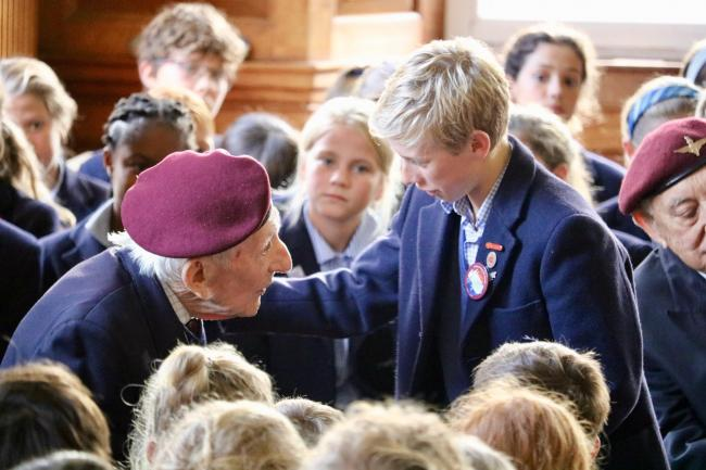 Arnhem veterans gather at Hampshire school for anniversary of battle