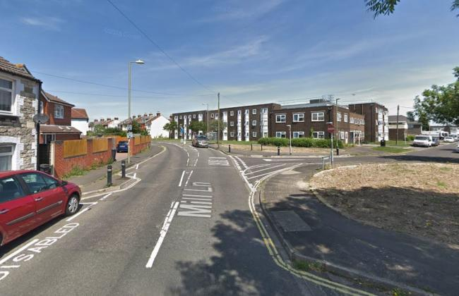 Police say the incident took place in Mill Lane, Gosport. Google Street View.