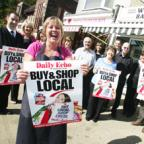 SHOW OF SUPPORT: Traders in Merry Oak are backing the Daily Echo's Buy Local, Shop Local campaign.       Echo pictures by Chris Moorhouse. Order no: 9252764