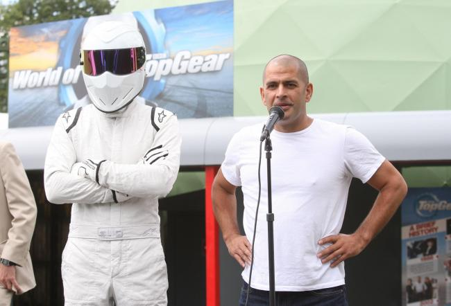 Chris Harris and The Stig at the World of Top Gear at the National Motor Museum, Beaulieu, in 2017.