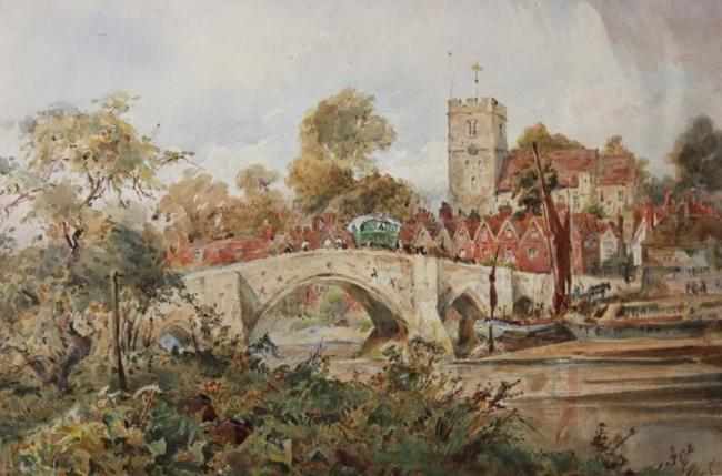 A painting of Southampton by city artists Sidney Goodwin