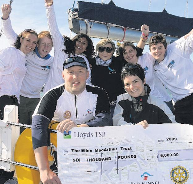 Gus McKechnie who presented a cheque for £6,000 to the trust raised through his numerous charity challenges to the Ellen MacArthur Trust