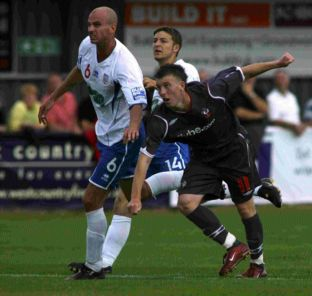 Jamie White scores for Saints against Eastleigh in 2008