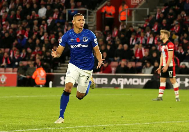 Richarlison celebrates at St Mary's