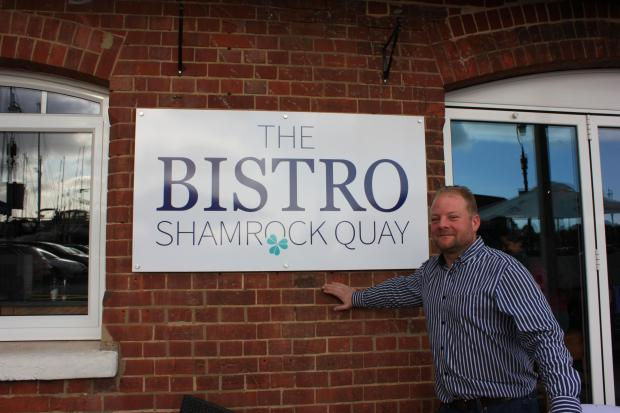 Mark Walters outside The Bistro at Shamrock Quay