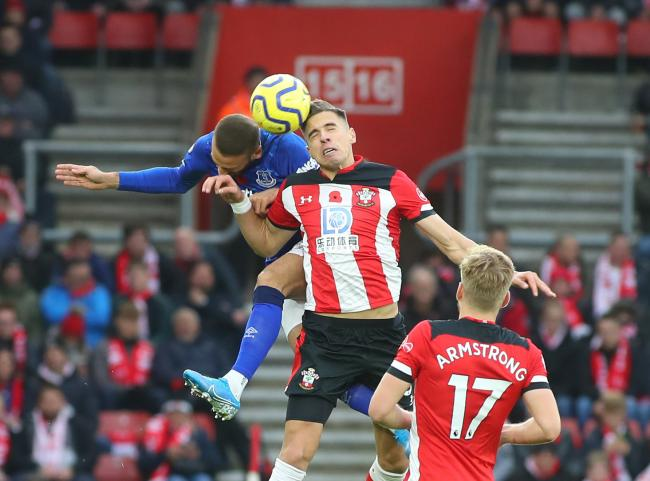 Southampton's Jan Bednarek during the Premier League match between  Southampton and Everton.  Photo by Stuart Martin..