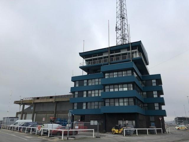 The former VTS building at Southampton's Eastern Docks