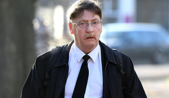 ..Pictured: Ian Drummond arriving at Southampton Magistrates Court this morning.....A 4,000 tonne passenger ferry ploughed into a yacht and almost crushed a family of sailors because its captain failed to keep a 'proper' lookout, a court today hea