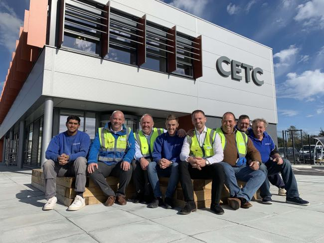 Founders and apprentices mark the creation of Blanchard Wells Structures and Civils at the Civil Engineering Training Centre, Fareham College