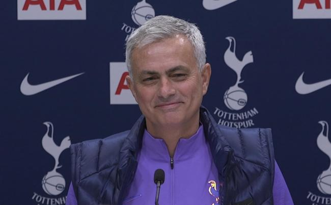 Screengrab taken from PA Video of new Tottenham Hotspur manager Jose Mourinho during the press conference at Tottenham Hotspur Training Centre, Enfield. PA Photo. Picture date: Thursday November 21, 2019. Jose Mourinho has set his sights on winning a four