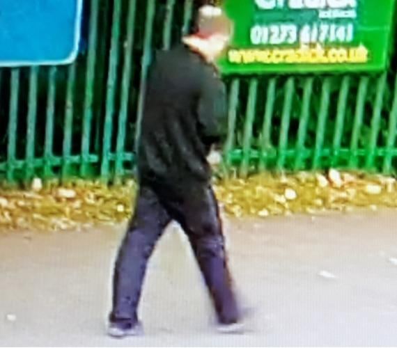 Police would like to speak to this man following an alleged flashing incident in Petersfield.