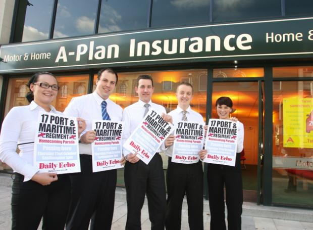 A-Plan Insurance are one of the companies that are supporting the troops.